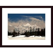 Printfinders Clouds and Snow by John K. Nakata Framed Photographic Print; Black