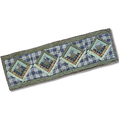Patch Magic Green Log Cabin Table Runner; 54'' W x 16'' L