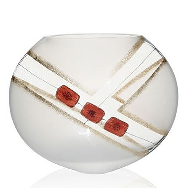 Womar Glass Contemporary Simplicity Vase; 10'' H x 12'' W x 5'' D