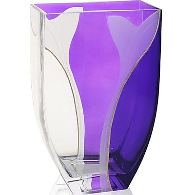 Womar Glass Hand Painted Glass Paix Series Vase