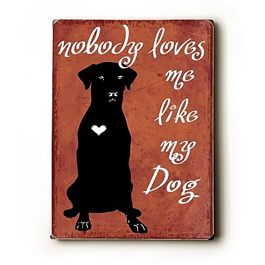 Artehouse LLC Nobody Loves Me by Kate Ward Thacker Graphic Art Plaque