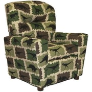 Brazil Furniture Home Theater Children's Cotton Recliner w/ Cup Holder; Rex Camo