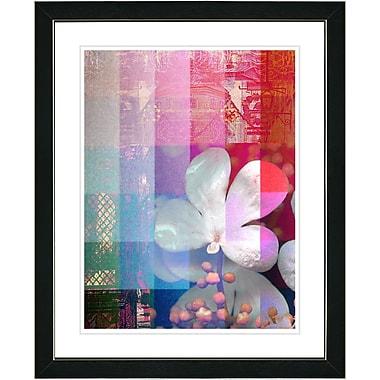 Studio Works Modern ''Chelsea Flower'' by Zhee Singer Framed Graphic Art; Black