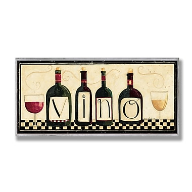 Stupell Industries Vino Wall Textual Art Wall Plaque