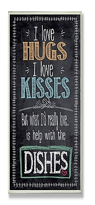 Stupell Industries I Love Help w/ the Dishes Textual Art Wall Plaque