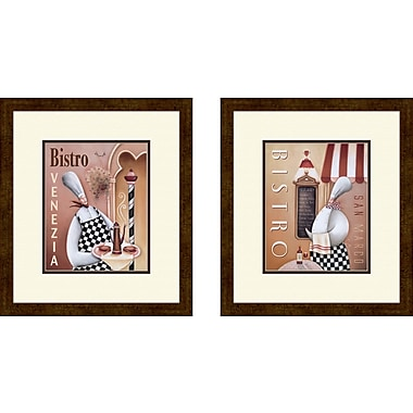 PTM Images Kitchen Bistro Venezia 2 Piece Framed Graphic Art Set