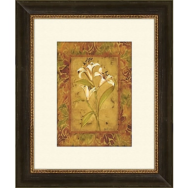 PTM Images Garden Lilies B Framed Graphic Art
