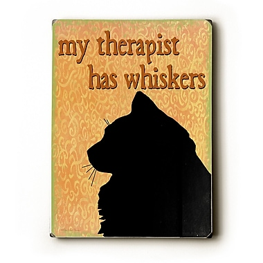 Artehouse LLC My Therapist Has Whiskers by Kate Ward Thacker Graphic Art Plaque