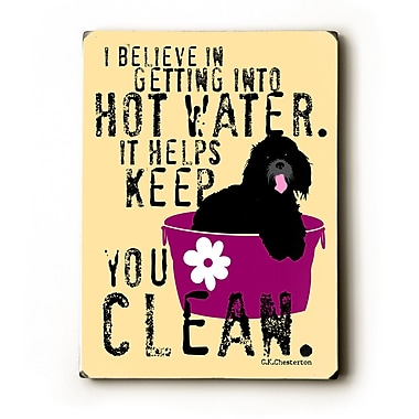 Artehouse LLC Hot Water by Ginger Oliphant Graphic Art Plaque