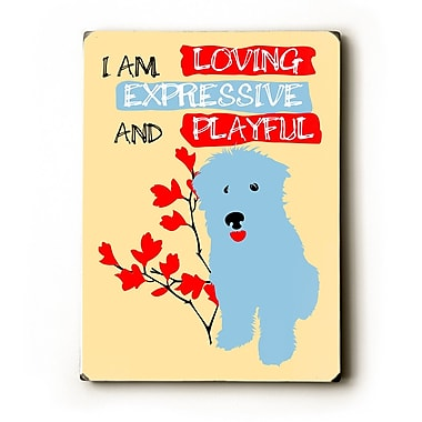 Artehouse LLC Loving Expressive and Playful by Ginger Oliphant Graphic Art Plaque