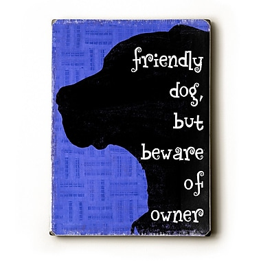 Artehouse LLC Friendly Dog by Kate Ward Thacker Graphic Art Plaque