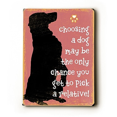 Artehouse LLC Pick A Relative by Kate Ward Thacker Graphic Art Plaque