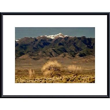 Printfinders High Desert Landscape by John K. Nakata Framed Photographic Print; Black