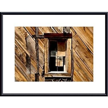 Printfinders Window and Wall by John K. Nakata Framed Photographic Print; Black