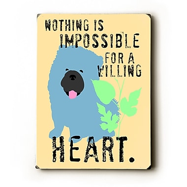 Artehouse LLC Willing Heart by Ginger Oliphant Graphic Art Plaque