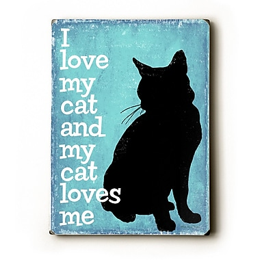 Artehouse LLC I Love My Cat by Kate Ward Thacker Graphic Art Plaque