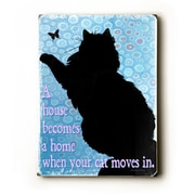 Artehouse LLC Cat Moves in by Kate Ward Thacker Graphic Art Plaque