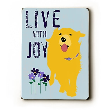 Artehouse LLC Love w/ Joy by Ginger Oliphant Graphic Art Plaque