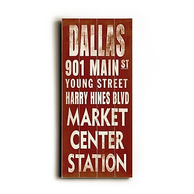 Artehouse LLC Dallas Transit by Cory Steffen Textual Art Plaque