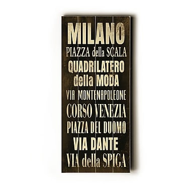 Artehouse LLC Milano Transit by Cory Steffen Textual Art Plaque