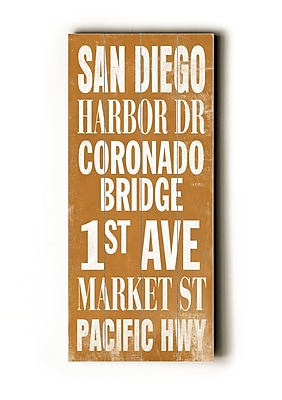 Artehouse LLC San Diego Transit by Cory Steffen Textual Art Plaque