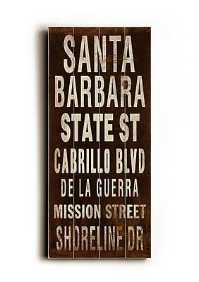 Artehouse LLC Santa Barbara Transit by Cory Steffen Textual Art Plaque