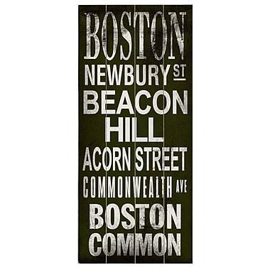 Artehouse LLC Boston Transit Beacon Hill by Cory Steffen Textual Art Plaque