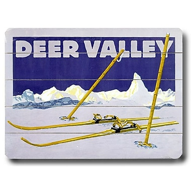 Artehouse LLC Deer Valley Vintage Advertisement Plaque