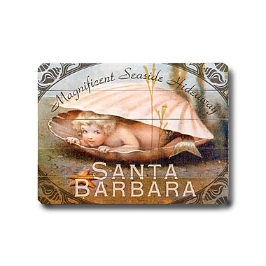 Artehouse LLC Santa Barbara Sign Vintage Advertisement Plaque