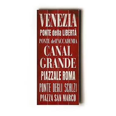 Artehouse LLC Venezia Transit by Cory Steffen Textual Art Plaque