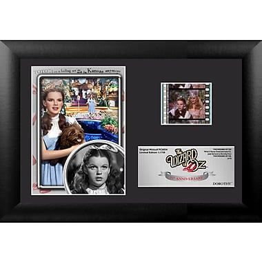Trend Setters Wizard of Oz 75th Anniversary (Dorothy) Mini FilmCell Presentation Framed Memorabilia
