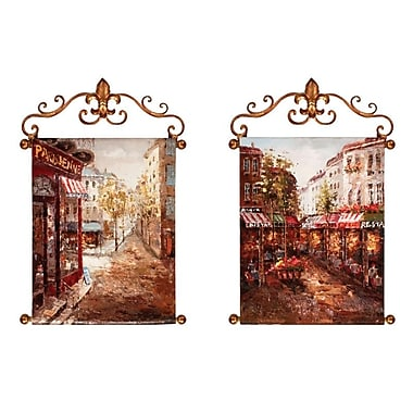 Manual Woodworkers & Weavers Rue De Paris Canvas Art (Set of 2)