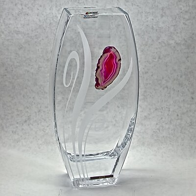 Womar Glass Precious Stone Agate Series III Vase