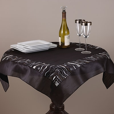 Saro Embroidered and Sequined Table Topper