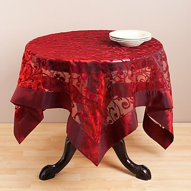 Saro Flocked Table Topper; 40''