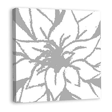 Melissa Van Hise Bloomy Burst II Graphic Art on Wrapped Canvas; Gray