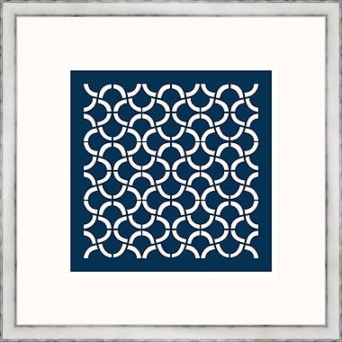 Melissa Van Hise Navy Geometrics I Framed Graphic Art