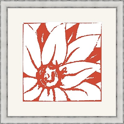 Melissa Van Hise Bloomy Burst II Framed Graphic Art; Red