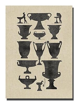 Melissa Van Hise Vases I Graphic Art on Wrapped Canvas