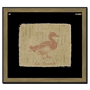 Melissa Van Hise Duck on Linen I Framed Graphic Art; Sienna