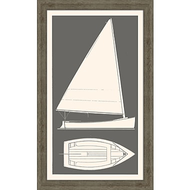 Melissa Van Hise Sail Boat I Framed Graphic Art; Kendal Charcol