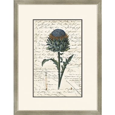 Melissa Van Hise Thistle w/ Writing Framed Graphic Art