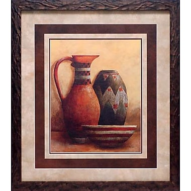 North American Art Market Vessels I by Kristy Goggio Framed Painting Print