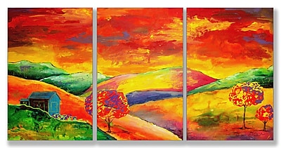 Stupell Industries Day Dreamer Triptych 3 Piece Painting Print Wall Plaque Set