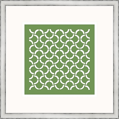 Melissa Van Hise Green Geometrics I Framed Graphic Art