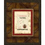 Melissa Van Hise Wine Labels VII Framed Vintage Advertisement