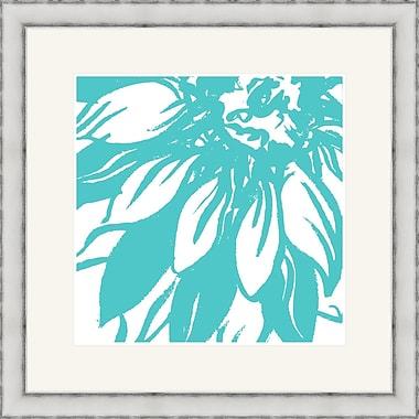 Melissa Van Hise Bloomy Burst I Framed Graphic Art; Aqua