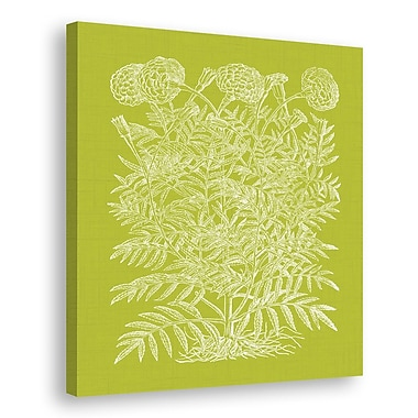 Melissa Van Hise Floral Impression IV Graphic Art on Wrapped Canvas; Spring Green