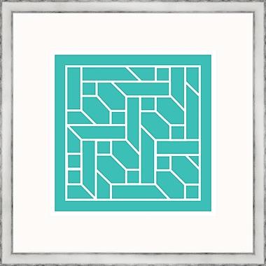 Melissa Van Hise Aqua Geometrics ll Framed Graphic Art