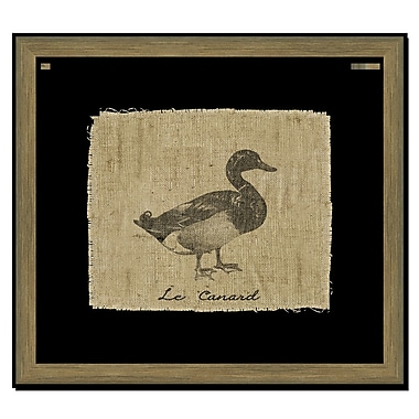 Melissa Van Hise Duck on Linen I Framed Graphic Art; Black